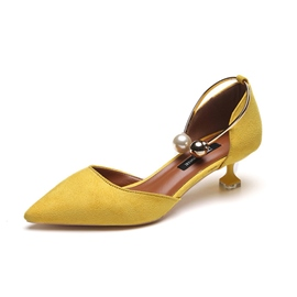 Ericdress Faux Suede Stiletto Heel Slip-On Pointed Toe Women's Pumps