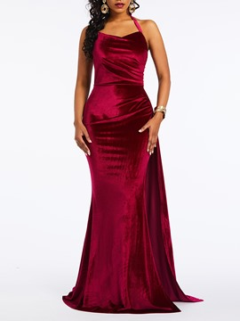 Ericdress Floor-Length Split Sleeveless Mermaid Dress