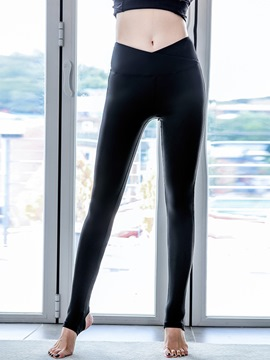 Ericdress Breathable Solid Sport Leggings
