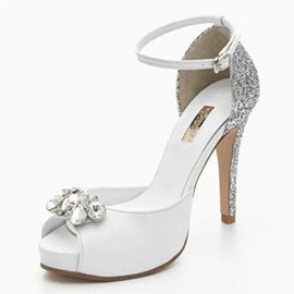 Ericdress Stiletto Heel Platform Line-Style Buckle Wedding Shoes