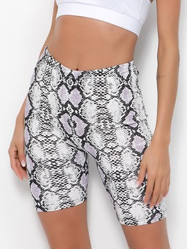 ericdress Anti-Sweat-Sport-Fitness-Shorts mit Serpentin-Print