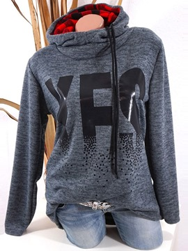 Ericdress Letter Print Regular Mid-Length Hooded Hoodie