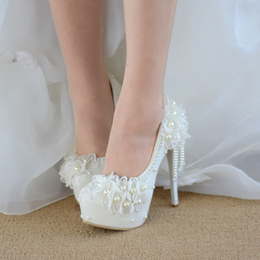 Ericdress Stiletto Heel Platform Round Toe Wedding Shoes