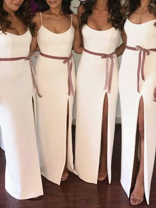 Ericdress Column Spaghetti Straps Sashes Bridesmaid Dress 2019
