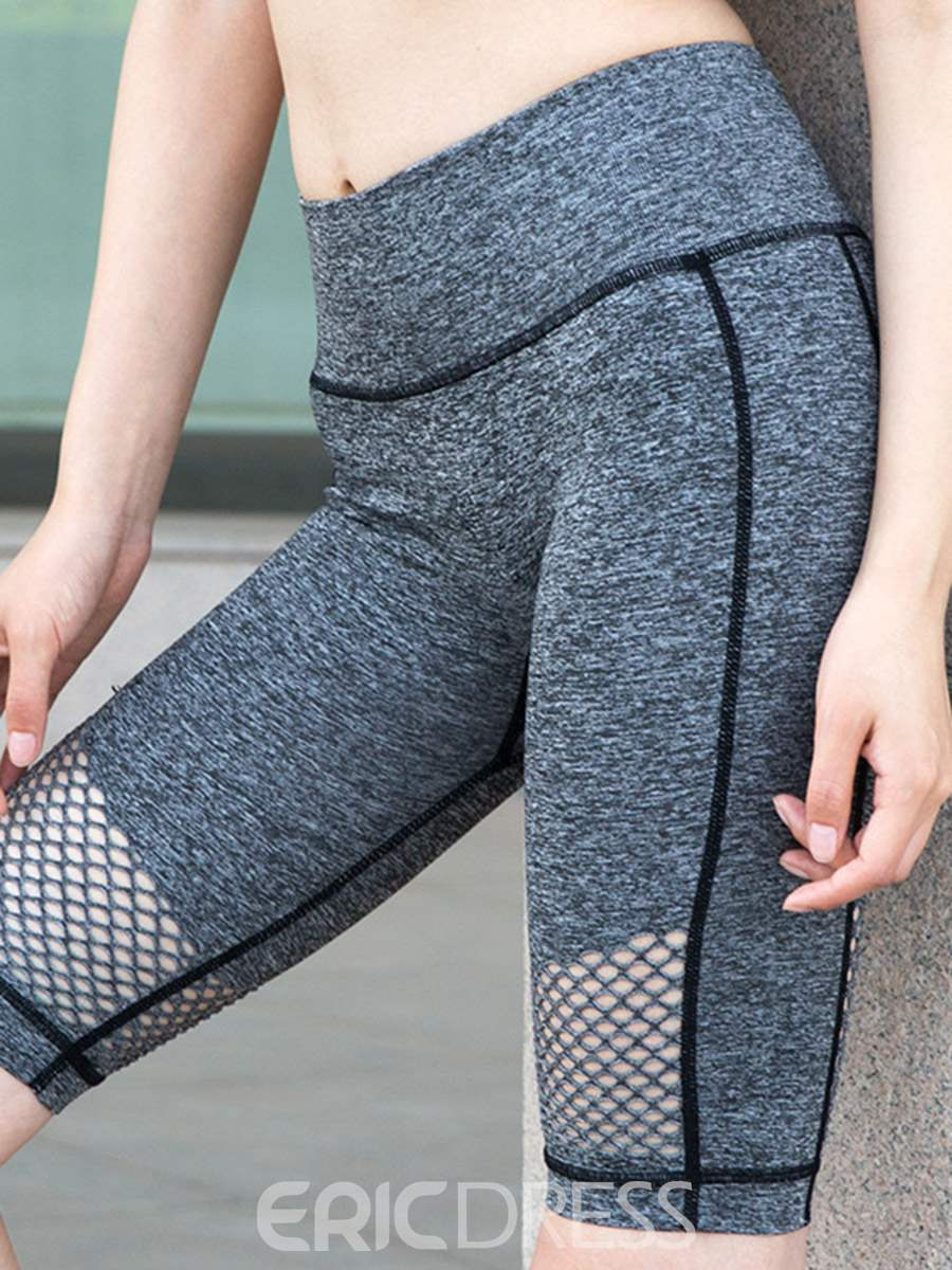 Ericdress Anti-Sweat Patchwork Fitness Gym Sport Yoga Pants