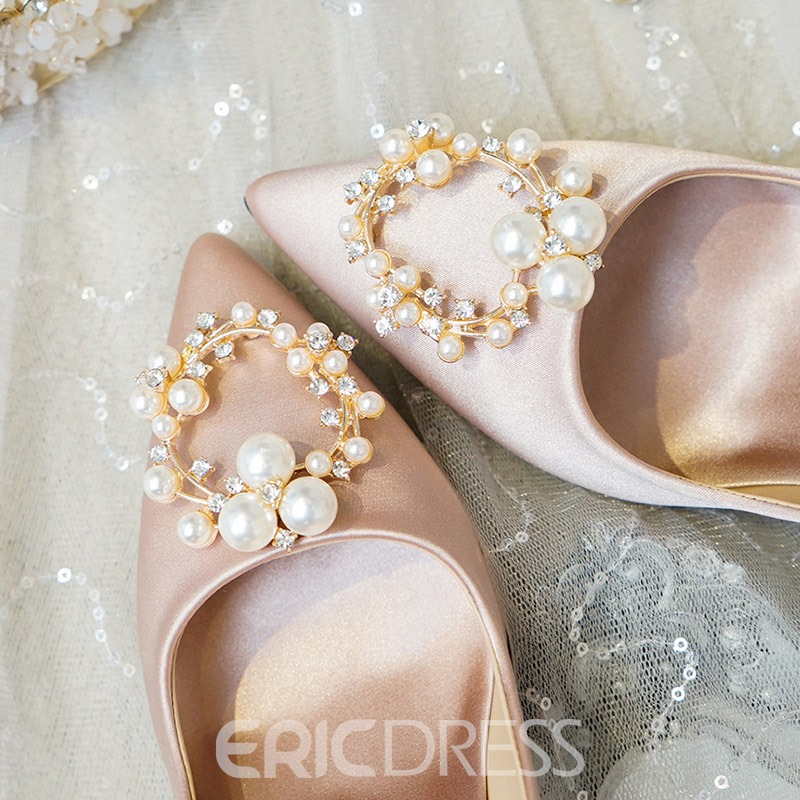 Ericdress Pointed Toe Beads Wedding Shoes