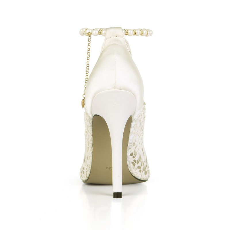 Ericdress Stiletto Heel Pointed Toe Line-Style Buckle Wedding Shoes