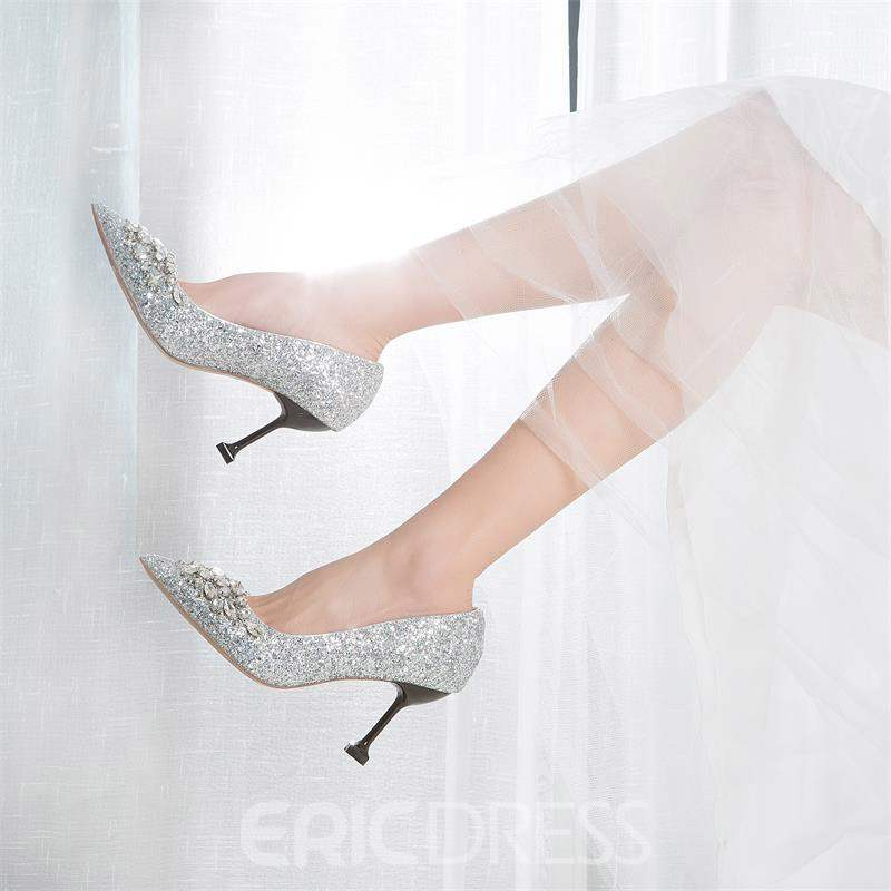 Ericdress Stiletto Heel Rhinestone Wedding Shoes