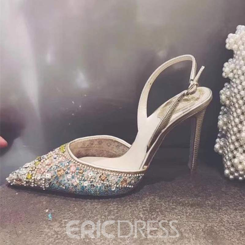 Ericdress Slingback Strap Stiletto Heel Pointed Toe Prom Shoes