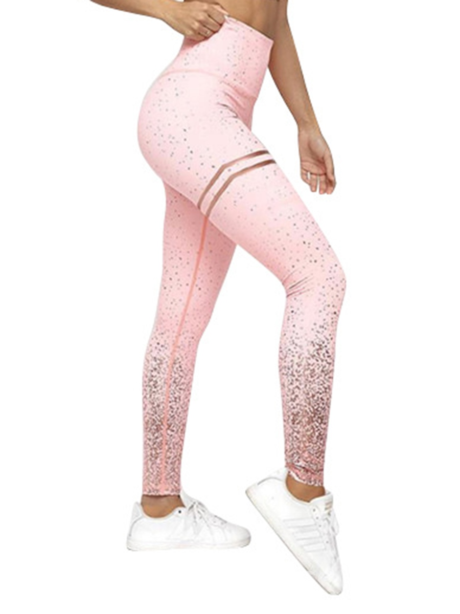 Ericdress Seamless Breathable Patchwork Gym Sport Leggings