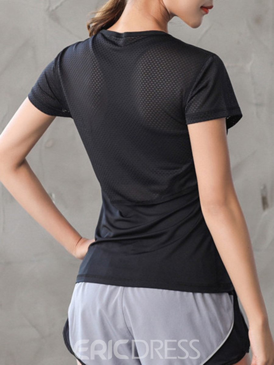 Ericdress Easy-Care Anti-Pilling Pullover Short Sleeve Sport Tops