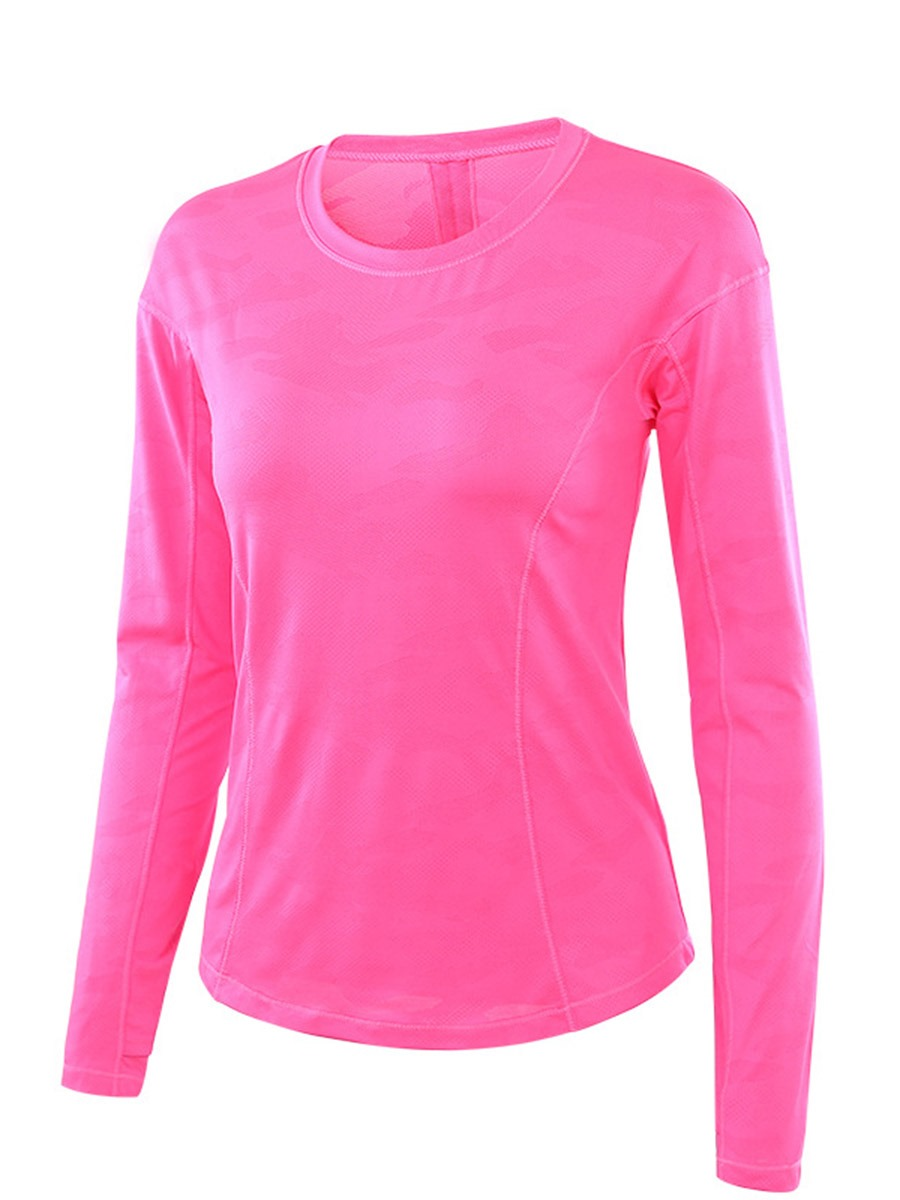 Ericdress Breathable Solid Long Sleeve Running Sport Tops