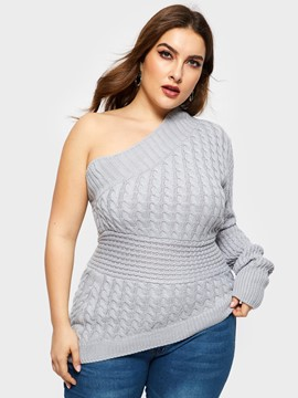 Ericdress Asymmetric Sample Plus Size Sweater