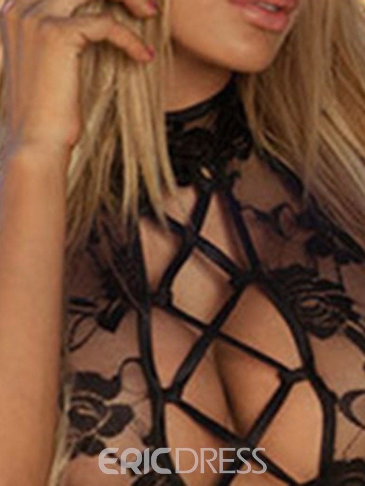 Ericdress Lace Backless Plain Tight Wrap Lace Sexy Bodysuit