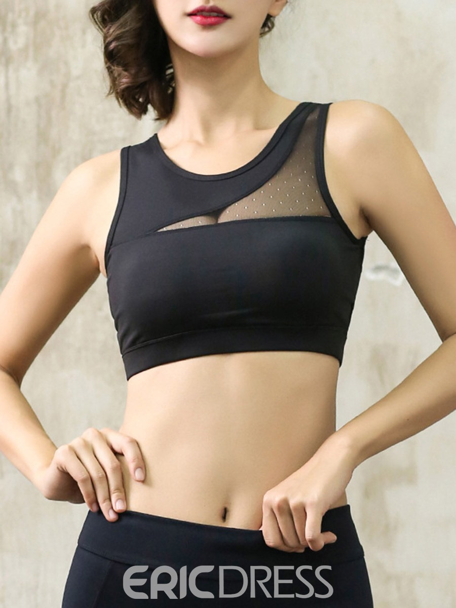 Ericdress Plain Preventing Accidental Exposure Free Wire Sports Bras