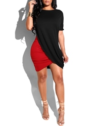 Ericdress Above Knee Half Sleeve Round Neck Pullover Dress фото