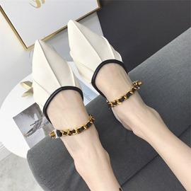 Ericdress Pointed Toe Slip-On Block Heel Women's Mules Shoes