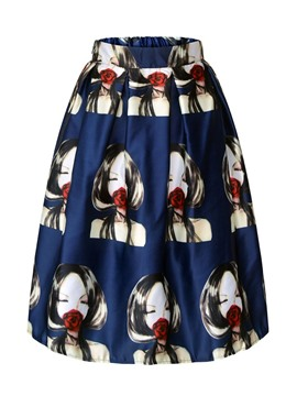 Ericdress A-Line Cartoon Print Fashion Skirt