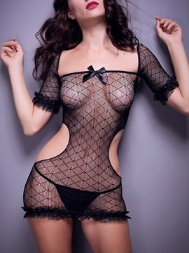 Ericdress See-Through Plain Bunny Costume Sexy Fishnet Teddies
