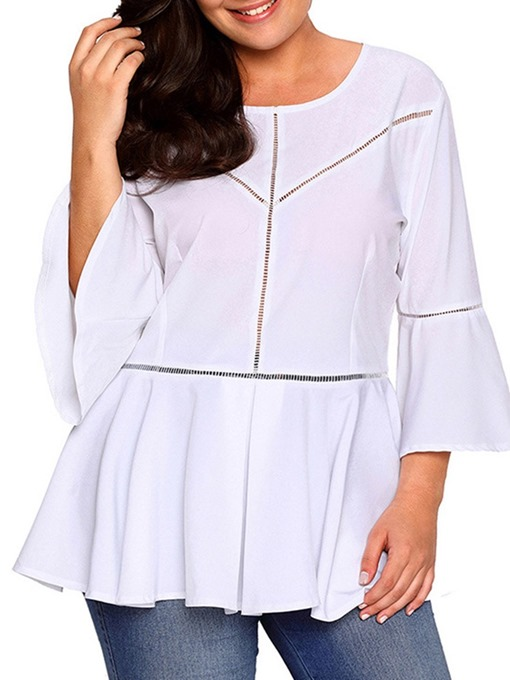 Ericdress Three-Quarter Sleeve Round Neck Mid-Length Spring Casual T-Shirt