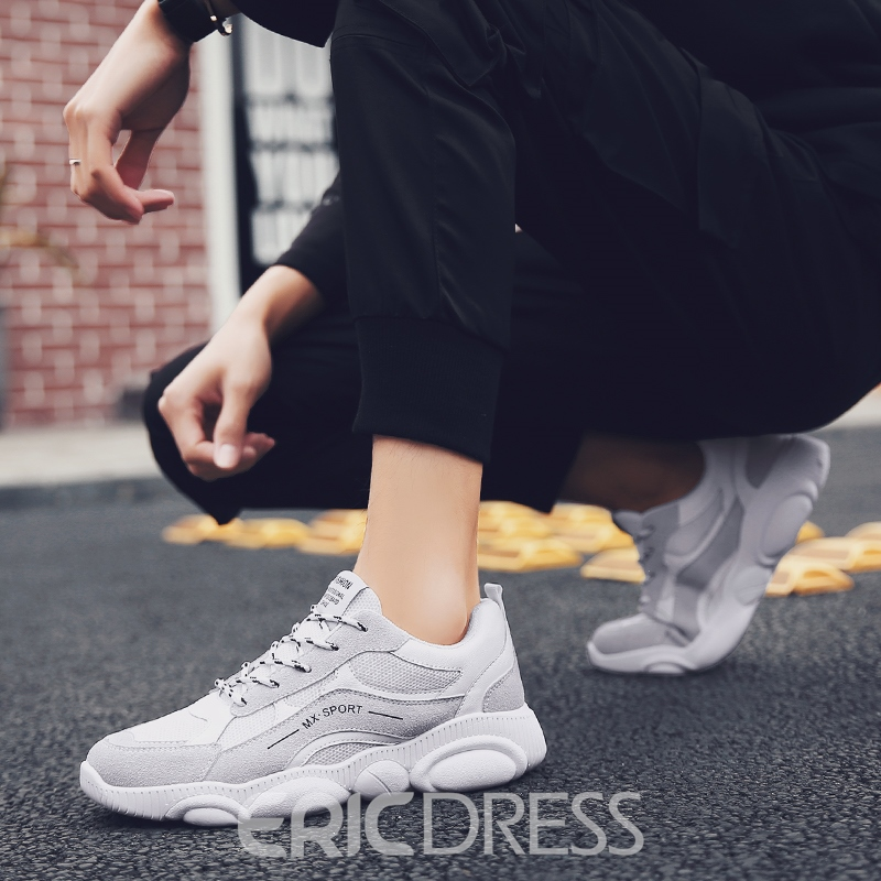 Ericdress Mesh Lace-Up Round Toe Men's Casual Athletic Shoes