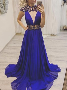 Ericdress Scoop Cap Sleeves A-Line Evening Dress 2019 With Beadings