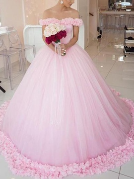 Ericdress Floor-Length Sleeveless Flowers Ball Gown Church Wedding Dress