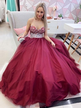 Ericdress Beading A-Line Sweetheart Prom Dress 2019