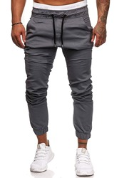 Ericdress Lace-Up Plain Lace-Up Mens Casual Pants фото