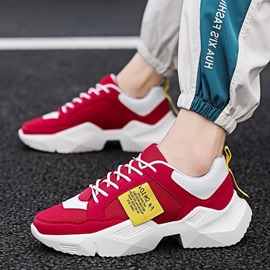Ericdress Mesh Patchwork Round Toe Lace-Up Men's Athletic Shoes