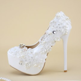 0598058ccf17 Ericdress Stiletto Heel Round Toe Rhinestone Wedding Shoes