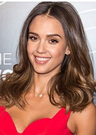 Ericdress Jessica Alba New Bob Haircut Long Loose Wave Layered Synthetic Hair Capless Wigs 24 Inches