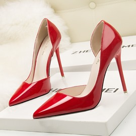 Ericdress PU Stiletto Heel Pointed Toe Slip-On Women's Pumps