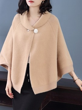 Ericdress Simple Plain Winter Cape