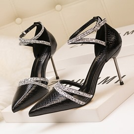 Ericdress Pointed Toe Alligator Pattern Stiletto Heel Women's Pumps