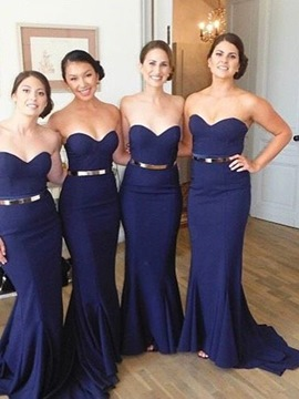 Ericdress Sweetheart Floor-Length Bridesmaid Dress