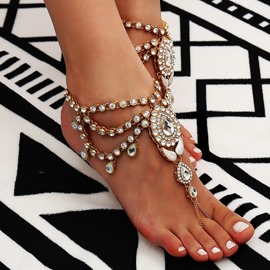 Ericdress Bohemian Style Diamante Anklet (just 1 Pic)