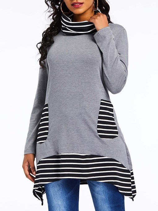 Ericdress Stripe Regular Print Fall Long Sleeve Hoodie