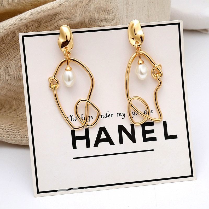 Ericdress Hollow Out Pearl Earrings