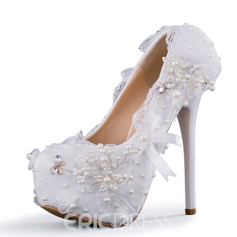 Ericdress Appliques Slip-On Round Toe Wedding Shoes