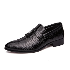 Ericdress Alligator Pattern Pointed Toe Men's Dress Shoes