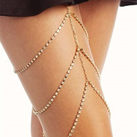 Ericdress Plain Diamante Anklet (just 1 Pic)