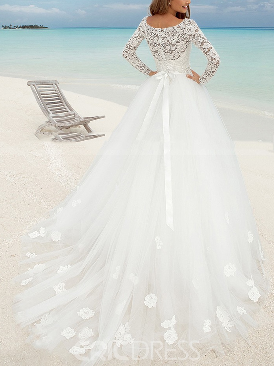 Ericdress Lace Ball Gown Hall Wedding Dress 2019