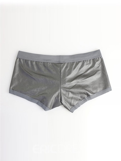 Ericdress Print Patent Leather Plain Low-Waist Boxer Underwear
