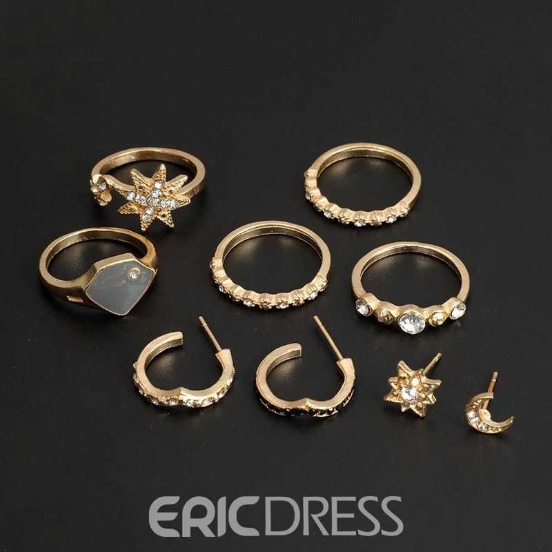Ericdress Plain Diamante Jewelry Set
