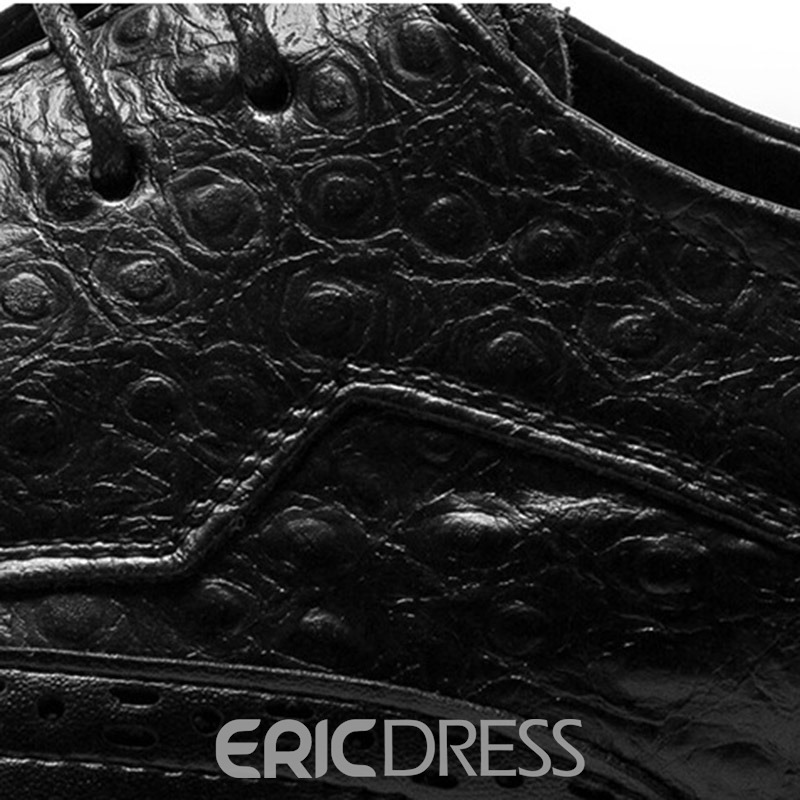 Ericdress Plain Pointed Toe Lace-Up Men's Oxfords