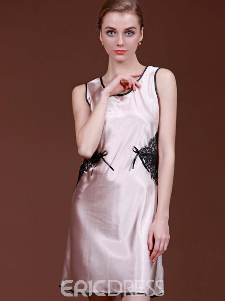 Ericdress Color Block Patchwork Sleeveless Nightgowns