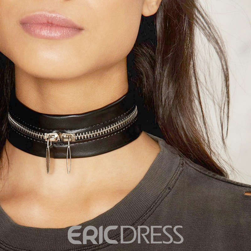 Ericdress Leather Choker Necklace
