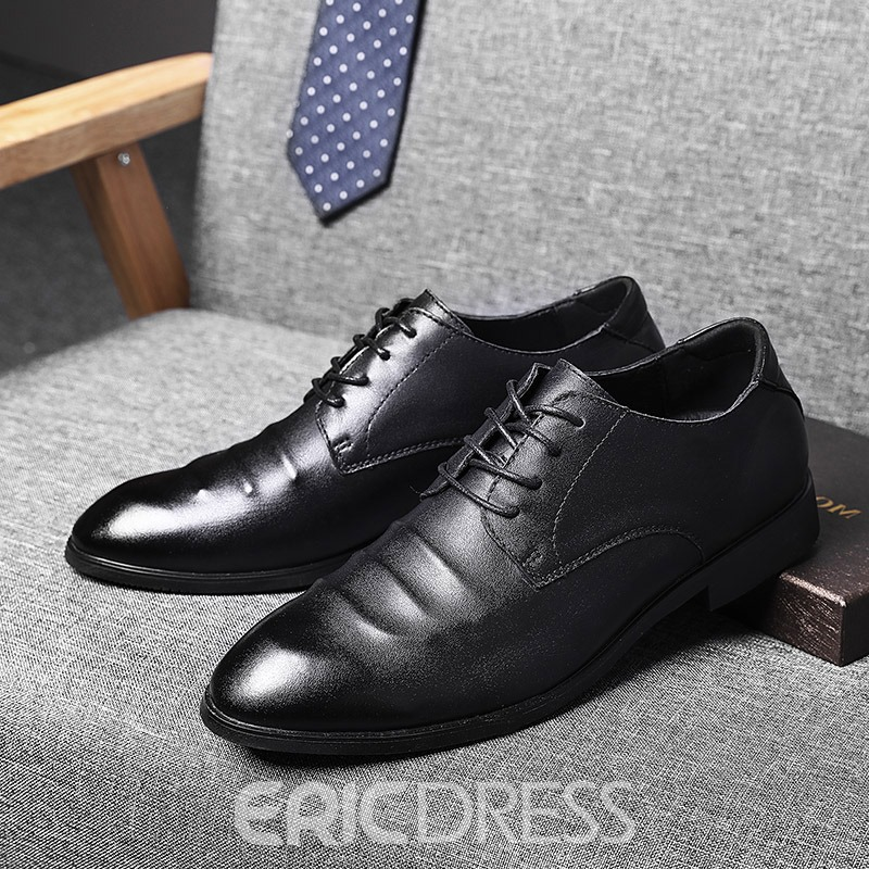Ericdress Plain Pointed Toe Men's Casual Shoes