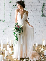 Ericdress Spaghetti Straps Backless Beach Wedding Dress фото